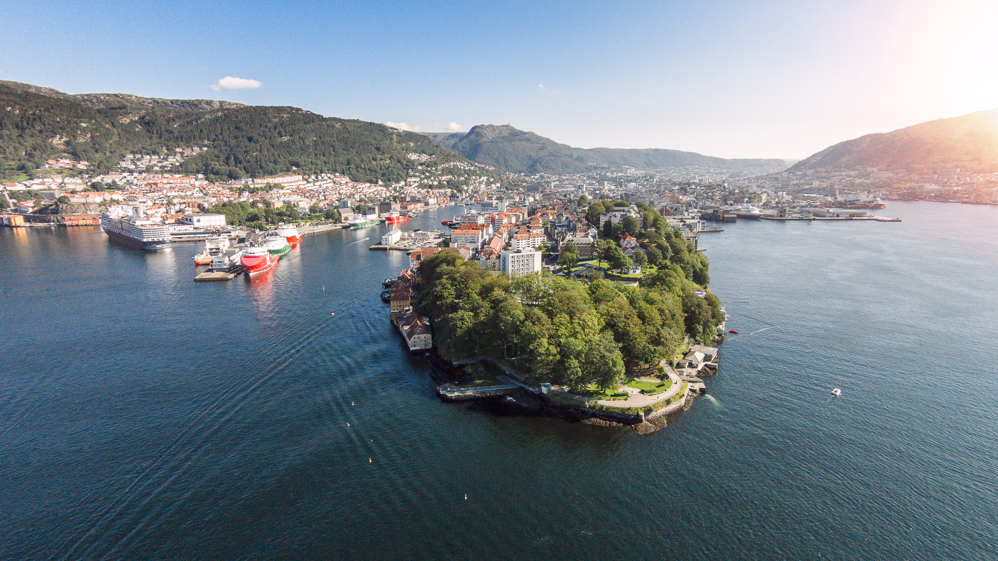 Nordnes in Bergen, Norway. Taken with DJI Phantom 2 Vision Plus a sunny day.