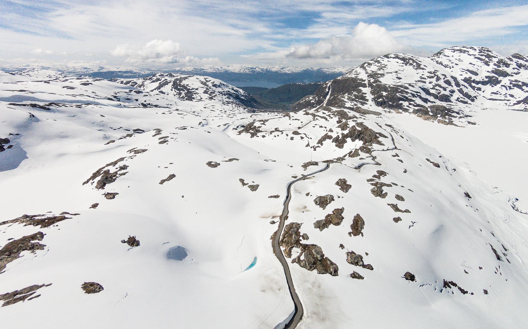 Taken above the road to Folgefonna Sommarski ski resort, on Folgefonna Glacier in Hardanger, Norway.